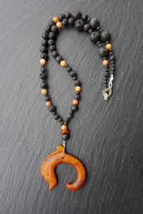 Dragon jade orange petit collier