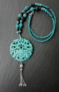 Dragon jade turquoise collier